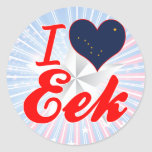 Amo EEK, Alaska Etiquetas Redondas