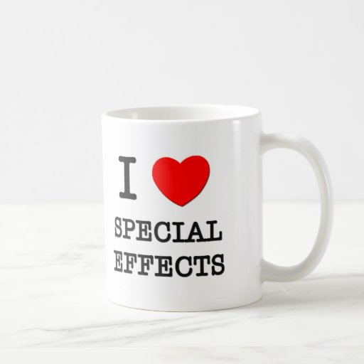Amo efectos especiales taza básica blanca