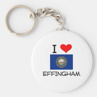 Amo Effingham New Hampshire Llaveros Personalizados