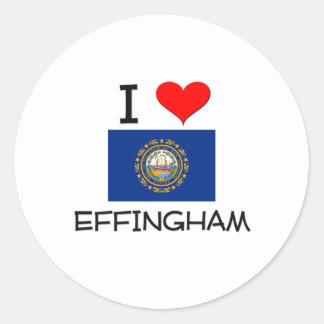 Amo Effingham New Hampshire Pegatinas