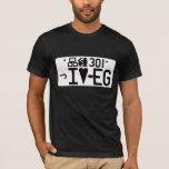 """""""Amo EG."""" Camiseta japonesa de la placa"""
