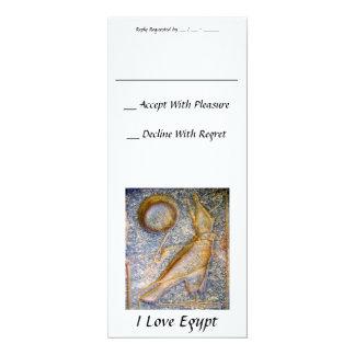 """Amo Egipto Invitación 4"""" X 9.25"""""""