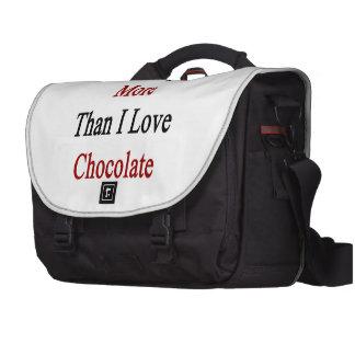 Amo Egipto más que el chocolate del amor de I Bolsas De Portatil