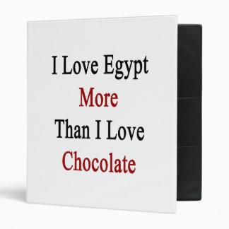 Amo Egipto más que el chocolate del amor de I