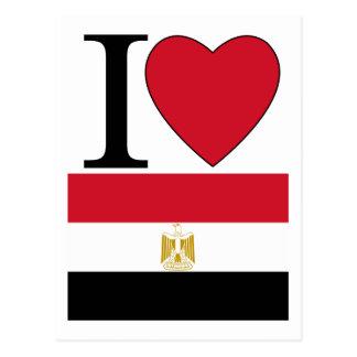 Amo Egipto Tarjeta Postal