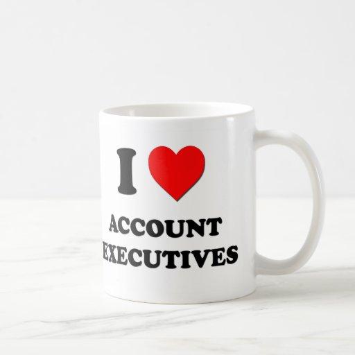 Amo ejecutivos de cuenta taza de café