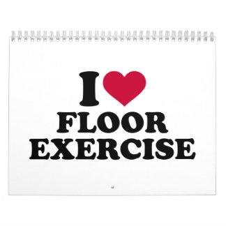 Amo ejercicio de piso calendarios