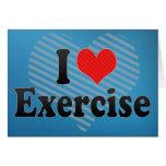 Amo ejercicio felicitación