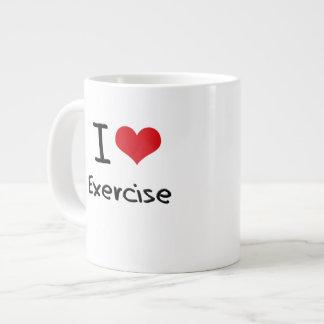 Amo ejercicio taza jumbo