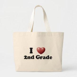 Amo el 2do grado bolsas de mano