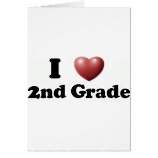 Amo el 2do grado tarjeta de felicitación