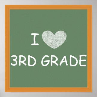 Amo el 3ro grado póster