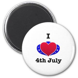 ¡Amo el 4 de julio! Imanes