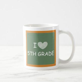Amo el 5to grado taza de café