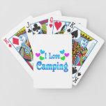 Amo el acampar barajas de cartas