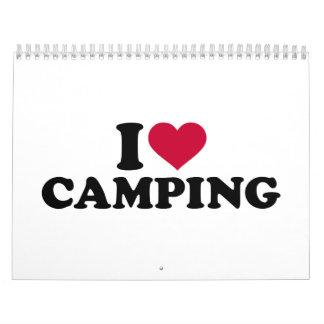 Amo el acampar calendarios