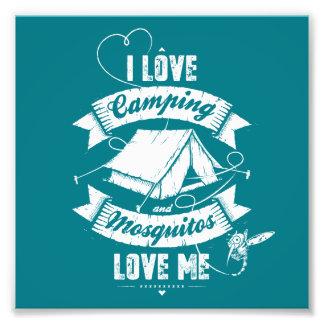 Amo el acampar fotografía