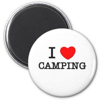 Amo el acampar imán de frigorifico