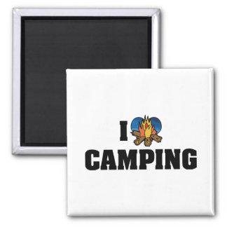 Amo el acampar imán de nevera