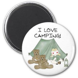 Amo el acampar imanes