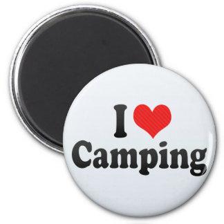 Amo el acampar imán para frigorífico