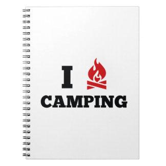 Amo el acampar libreta