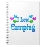 Amo el acampar libro de apuntes con espiral