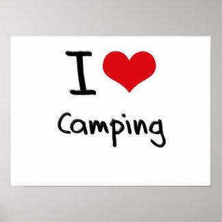 Amo el acampar posters