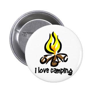 amo el acampar pin redondo de 2 pulgadas