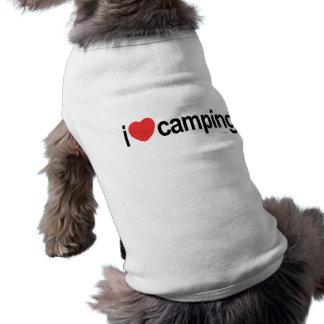 Amo el acampar playera sin mangas para perro
