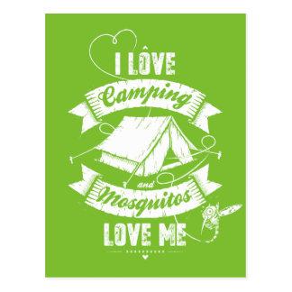Amo el acampar postales