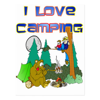 Amo el acampar tarjeta postal