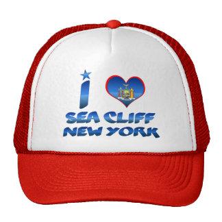 Amo el acantilado del mar, Nueva York Gorro De Camionero