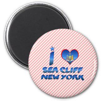 Amo el acantilado del mar, Nueva York Imán De Frigorifico