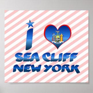 Amo el acantilado del mar, Nueva York Posters