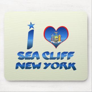 Amo el acantilado del mar, Nueva York Alfombrilla De Raton