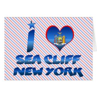 Amo el acantilado del mar, Nueva York Felicitación