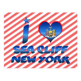 Amo el acantilado del mar, Nueva York Tarjeta Postal