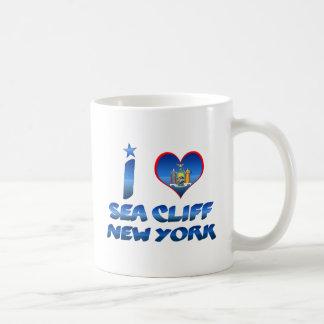 Amo el acantilado del mar, Nueva York Tazas De Café