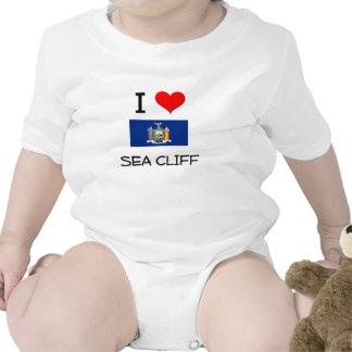 Amo el acantilado Nueva York del mar Traje De Bebé