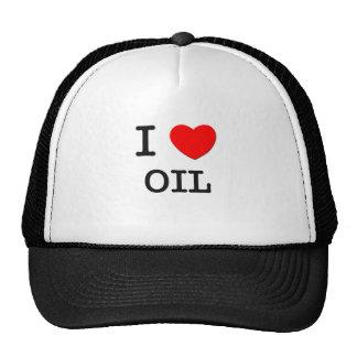 Amo el aceite gorros