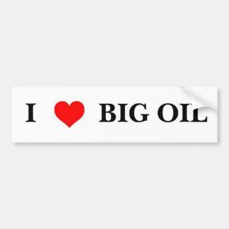 Amo el aceite grande pegatina para auto
