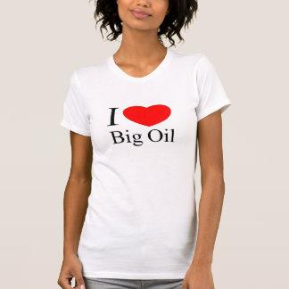 Amo el aceite grande camiseta