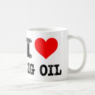 Amo el aceite grande taza básica blanca