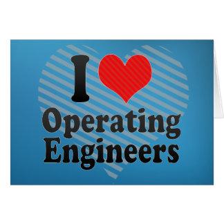 Amo el actuar de ingenieros tarjeta de felicitación