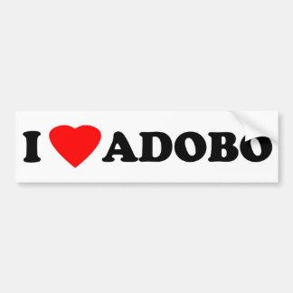 Amo el Adobo Etiqueta De Parachoque