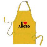 Amo el Adobo Delantal