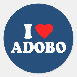 Amo el Adobo Pegatina Redonda