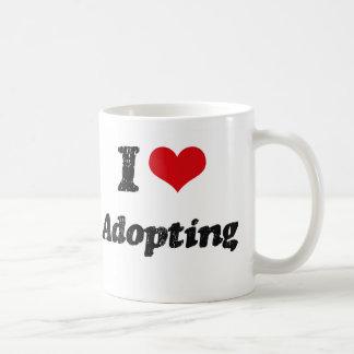 Amo el adoptar taza