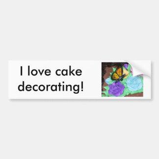 ¡Amo el adornamiento de la torta! Pegatina para el Pegatina Para Auto